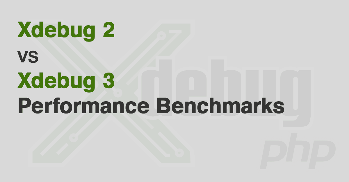 Xdebug 2 vs 3 benchmark