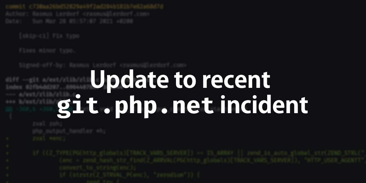 git.php.net server hacked, and PHP source moved to GitHub