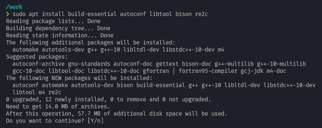 Install  build essentials