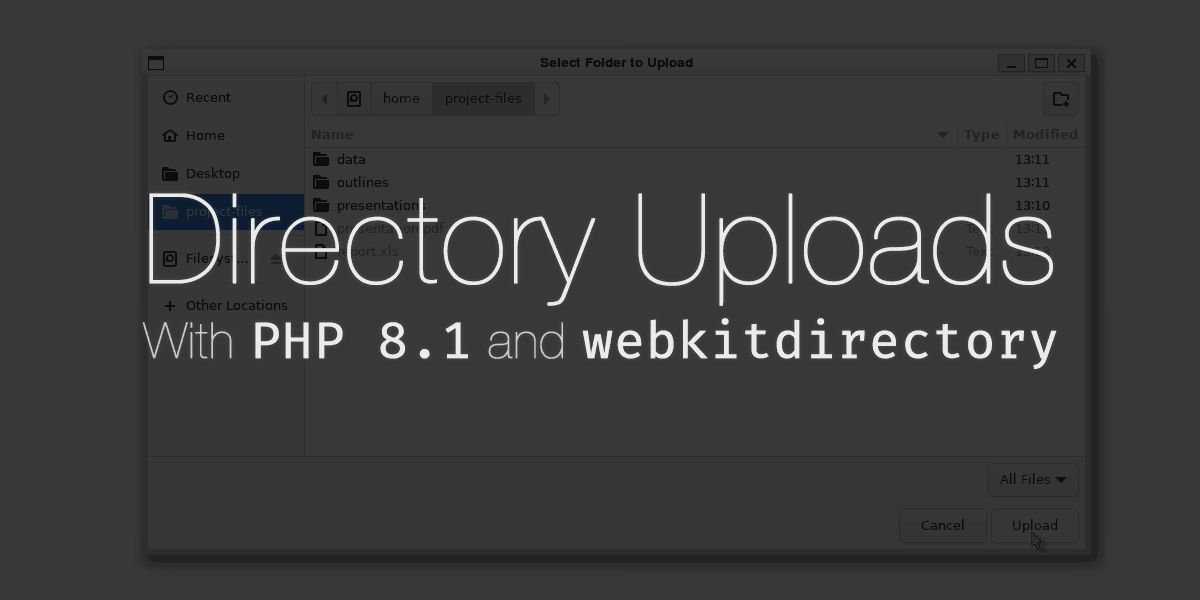 Directory Uploads in PHP 8.1