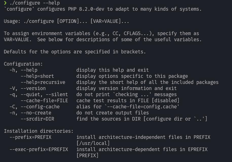 configure script help